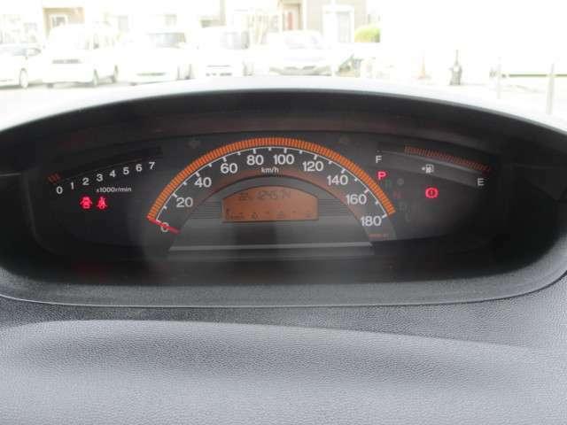 スピードメーターは見やすいレイアウトです。