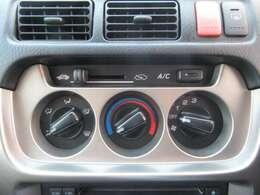 シンプルで扱いやすいエアコンスイッチ!風量等に任意に調整出来ます♪