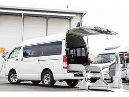 トヨタ ハイエースバン 2.0 ウェルキャブ Bタイプ ロング 電動スイングアームリフト 車いす固定装置