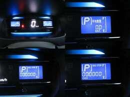 デジタルメーターです。液晶部には燃費計の表示も可能です。