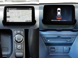 オプションのフルセグ地デジTV・DVD・CD付きのSDナビ搭載。Bluetooth、USB、AUX入力端子付き。リアパーキングセンサー付き。