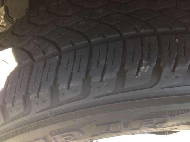 タイヤ溝もありこのままお乗り頂けます♪