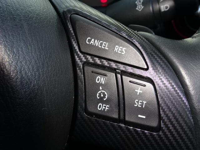 アクセルを踏まずに定速走行が可能なクルーズコントロールシステムを装着しております。高速走行時でのドライバーの負担軽減を図ります。