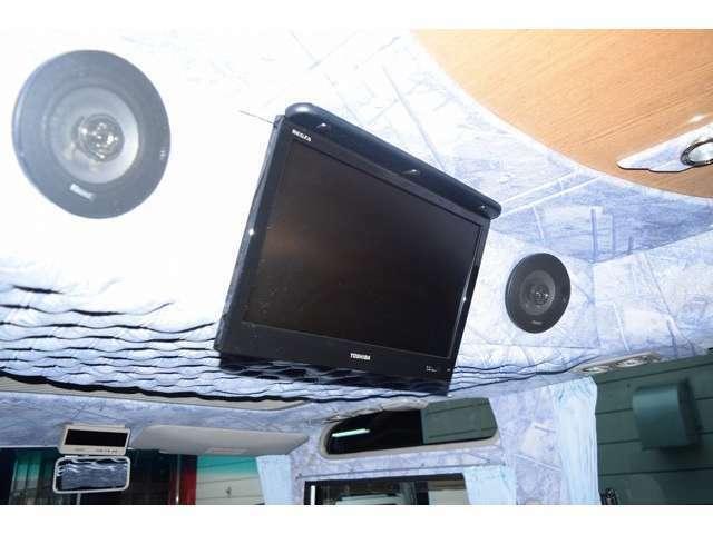 19インチ液晶テレビ!ルーフアンテナ・地デジチューナーの取り付けも可能ですのでお気軽にお申し付け下さい!