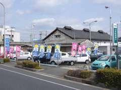 奈良のメインストリート、国道24号線に面しています。