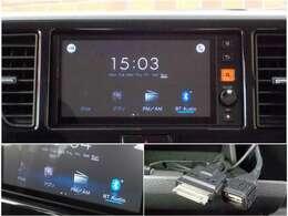 ディスプレイオーディオが付いています!Bluetoothオーディオや、AM・FMラジオなどをつかっていただくことはもちろん、アラウンドビューモニターの画像を映し出すことも可能です!