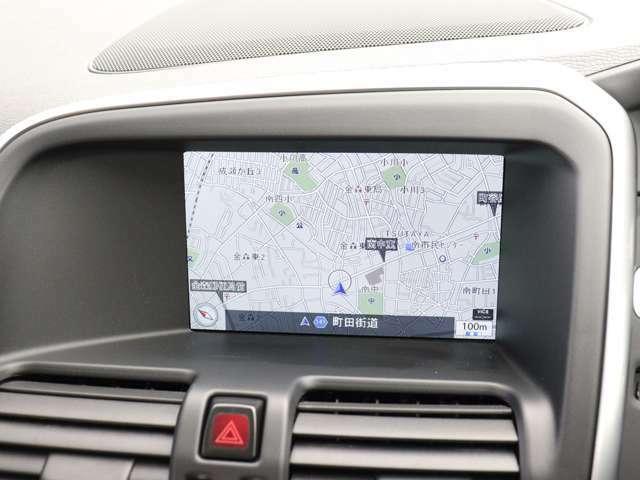 7インチ・ワイドディスプレイに表示されるHDDナビゲーションシステムは、最新の地図情報に更新するマップケア(地図更新サービス)を無償で利用できます。