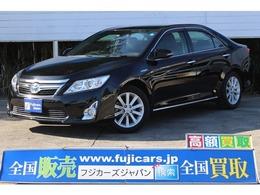トヨタ カムリハイブリッド 2.5 レザーパッケージ 黒革シートヒーター 純正HDDナビ