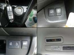 便利なキーフリー&プッシュスタート装備車♪両側電動スライドドアに低燃費アイドリングストップ登載車です♪嬉しいリアエアコンも標準装備ですよ☆