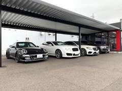 輸入車・高級セダンや高級SUVを中心としたお車を展示しております!珍しいお車も積極入荷中です!