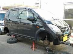 車高調を組んだりなどのカスタムや整備もお任せください。