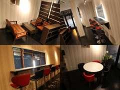 商談スペースは落ち着いたカフェのような雰囲気に…。お客様におくつろぎ頂けるようおもてなしさせて頂きます☆