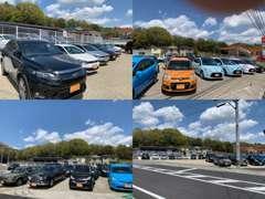 2号線に面した展示場にはこだわりを持って仕入れた源泉車両を展示!見て・触って・乗って楽しい車両がたくさんです!