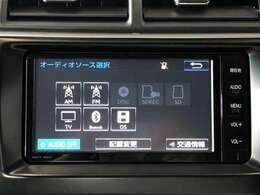 AM/FMラジオとCDチューナ、Bluetooth対応したナビゲーションです
