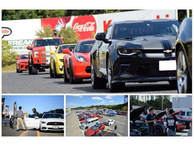 WINGDAYでのアメ車の走りは大迫力でした!やっぱりアメ車がサーキットを走る姿はカッコいいですね!