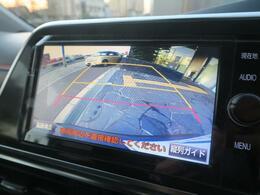 【バックカメラ】狭い場所にも楽々駐車できます!