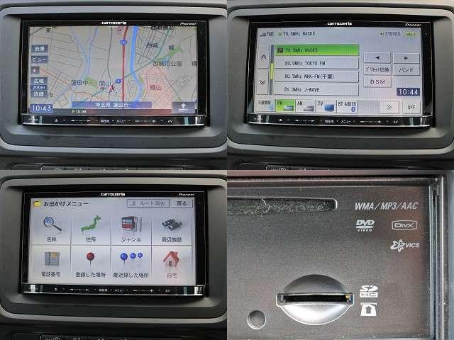 社外メモリーナビを装着!ワンセグ、DVD再生 Bluetoothオーディオ USB接続可能です♪