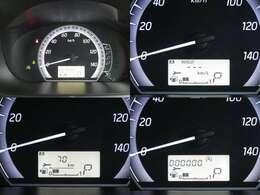 大きく見やすいスピードメーター♪液晶部には燃費計の表示可能です。