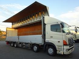 日野自動車 プロフィア アルミウイング 4軸 ベッド付 13.4t積み トランテックス ボディ長9.6m
