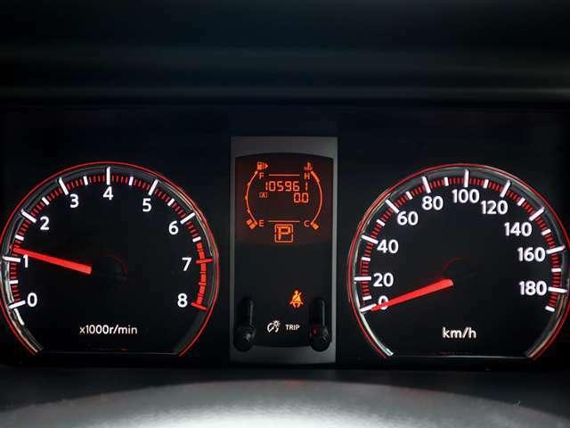 【メーター】現在の走行距離105,961kmでございます。