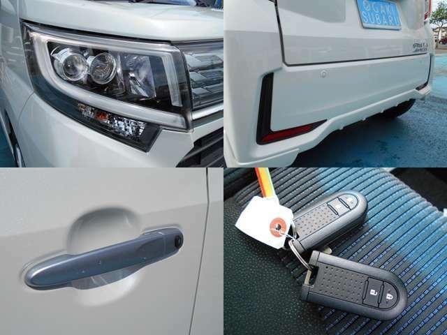 夜間明るく快適な『LEDヘッドライト』&『フォグランプ』!!バック時や駐車時に役立つ『バックソナー』!!ドアの開閉に便利な『リクエストスイッチ』&『キーレスアクセス』!!キーはうれしい2個付きです!!