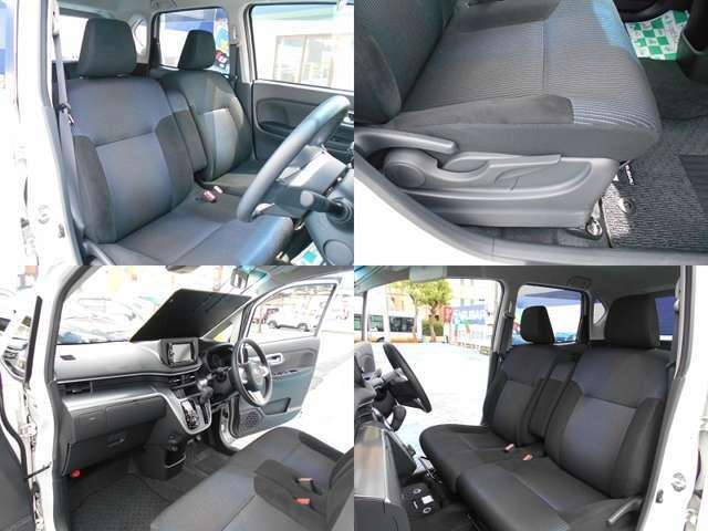 シートカラーはスポーティーなブラックです!!フロントシートは広々使えるアームレスト付きベンチシートタイプ!!運転席にはシートリフレクター付きでお好きなポジションに設定可能です!!!