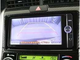 バックモニター付きなので後方も安心!!カラーで見やすくなってますよ☆運転補助にはありがたいオプションですね。