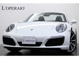 ポルシェ 911カブリオレ カレラS PDK スポーツクロノ 赤幌 黒革 OP20インチAW