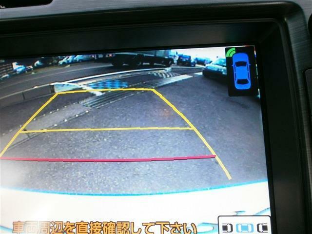車両後退時にはバックカメラが安全確認をサポート(^^)/