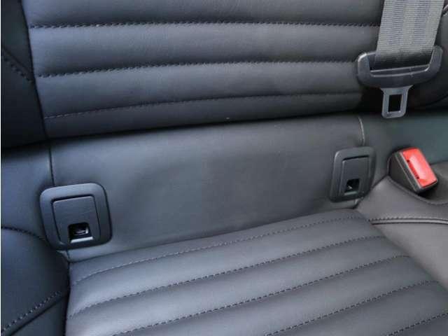 後部座席はISOFIX基準適合チャイルドシートの取り付けに対応しています。