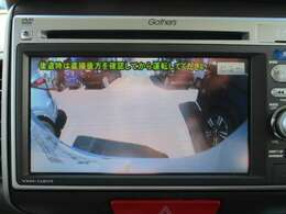 バックカメラの画像です。スムースな車庫入れをサポートいたします!