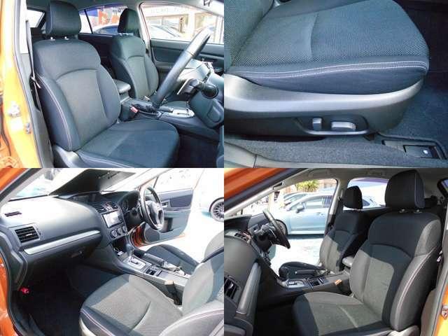 シートカラーはスポーティーなブラックです!!フロントシートはホールド感がありロングドライブでも疲れにくい設計です!!前席は両席共にパワーシートなのでお好きなポジションに細かく設定可能です!!!