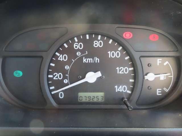 メーターパネルもシンプルなデザインで視認性に優れています!走行距離は79253km!まだまだ走れますよ!!