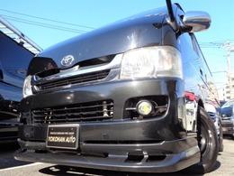 トヨタ ハイエースバン 3.0 スーパーGL ロング ディーゼルターボ ユーザー買取ナビTVDレコエアロLED黒革黒木