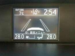 時間、外気温などの情報が表示されるディスプレイです。
