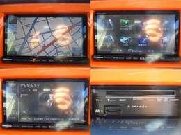 社外メモリーナビを装備。Bluetooth機能も搭載です。