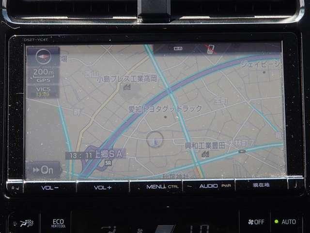 純正メモリーナビ フルセグTV・CD・DVDビデオ Bluetooth対応 バックカメラ付 ナビ型式:DSZT-YC4T ナビ取扱説明書あり