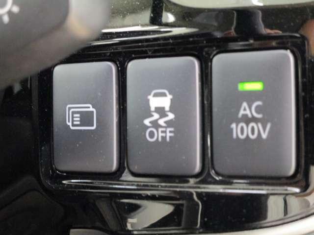 AC100V電源(1500W) 横滑り防止装置