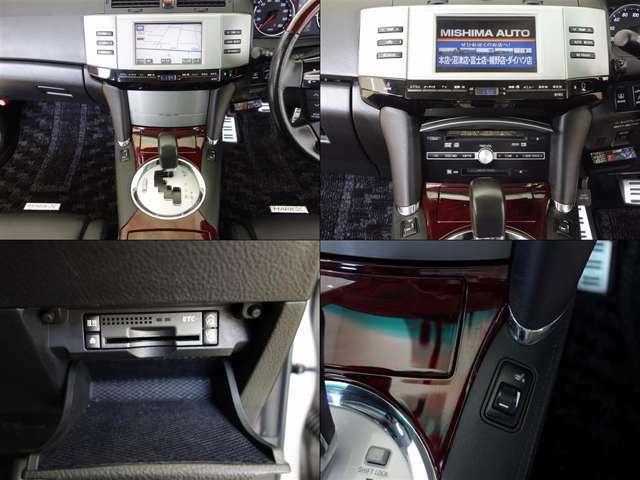 DVDナビが使いやすくセットされる車内。お出かけをやさしくアシストしてくれる便利な装備です。6連奏CD演奏、ETCも装備されています