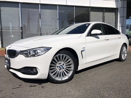 BMW 4シリーズグランクーペ 420i ラグジュアリー 黒革18AWウッドACC禁煙Luxury認定中古車