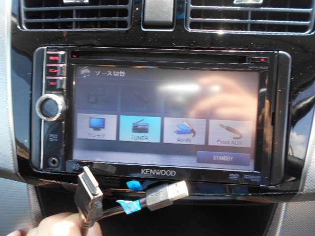 ケンウッド製SSDナビ(MDV-333)が付いています。地図は、2011年製とさすがに古いです。