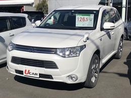 三菱 アウトランダーPHEV 2.0 G 4WD 三菱認定UCAR メモナビ フルセグ ETC