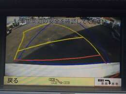 バックカメラです。ステアリングと連動しガイド線が表示されるので駐車がしやすいですよ!