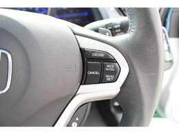 クルーズコントロールが装備されており、速度設定をするだけで一定の速度で安定した走行が可能!!一定速度の走行なので燃費の向上やアクセルペダルを踏む必要が無いので長距離ドライブが快適になります!!