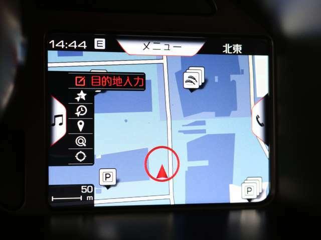 レブカウンターの右側には、ナビゲーションを表示することができます。