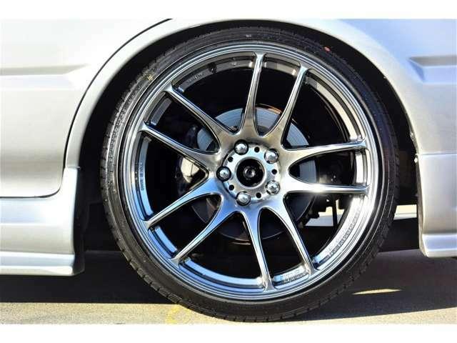 新品ワークエモーションKIWAMI19インチアルミ 新品タイヤ TEINフルタップ車高調