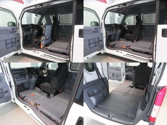 クルマの左側にもう一つの大開口を。助手席側センターピラーレス!助手席側に大きな開口部が生まれ、荷室へのアクセスが向上しました。ピラーの機能は助手席ドアとスライドドアに内蔵し衝突安全性も確保しています。
