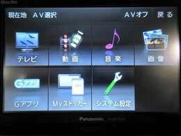 ワンセグTV機能付きのポータブルナビ搭載!