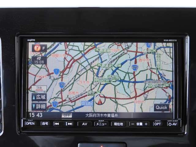 【メモリーナビ】搭載車です。ナビの起動までの速度と地図を検索する速度が最大の魅力です。初めての道でも安心・快適なドライブをサポート出来ます。操作も簡単で、ストレスフリーなドライブを提供いたします。