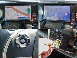 人気のKENWOOD製フルセグ/Bluetooth/DVD/USB/SD AVナビ「MDV-D505BTW」ついてます。ステアリングリモコンで操作可能です
